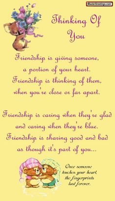 Thinking of you friendship quote hello friend friendship quote friend quote poem thinking of you graphic friend poem Special Friend Quotes, Friend Poems, Best Friend Quotes, Friend Sayings, Special Friends, Friend Gifts, Close Friends, Friendship Poems, Friend Friendship