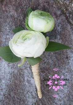 Ranunculus Boutonniere By Stylish Blooms   Flickr - Photo Sharing!