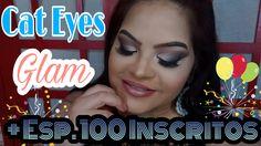 Amor em Cores: Cat Eyes Glam + Esp. 100 Inscritos
