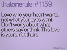 Love who your heart wants