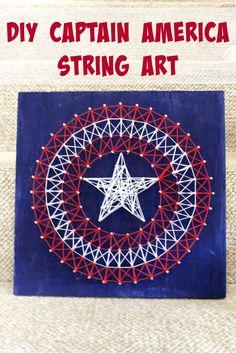 Second Chances Girl: DIY Captain America String Art