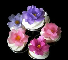 48 Edible Wild Roses Any Color Wafer Paper Flower by SweetDejaVu