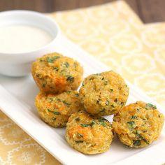 Cheesy Quinoa Bites - a healthy bite-sized snack that'll please even the quinoa haters!