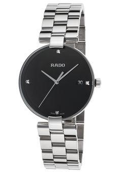 418671916687 Rado Women s Coupole Diamond Stainless Steel Black Dial Stainless SteelRado  R22852703-SD Watch