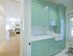 turquoise laundry room | House of Turquoise: PassivWorks