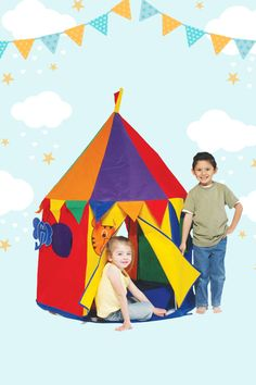 Step right up folks to see the amazing world of your child's imagination in the Bazoongi Circus Tent. Play and learn in this big top with a colourful design, detachable animals, and a curtain door. Your little one will be playing the part of ring master in no time. LOCATION: AUSTRALIA