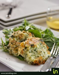 Spinach risotto cakes  Photo © Vadim Daniel