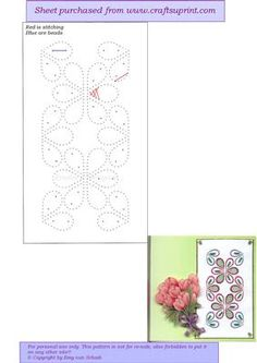 ED127 Flowerborder on Craftsuprint designed by Emy van Schaik - Stitching with beads - Now available for download!