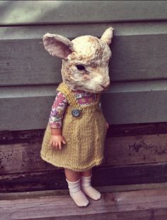 This is Dot lamb, she tends to be a bit of a worrier but knows her friends will cheer her up with playground games. Handmade head stitched