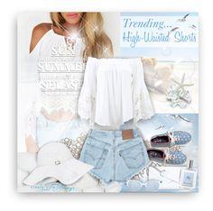 """Summer High-waisted Shorts"" by helenehrenhofer ❤ liked on Polyvore featuring Dorothy Perkins, Keds, Muche Et Muchette, Levi's, Melissa Odabash, Sheriff&Cherry, philosophy and highwaistedshorts"