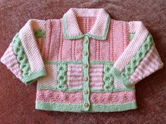 """Textured """"patchwork"""" cardigan can be knit with multiple or solid colors.  http://www.knittingparadise.com/t-262112-1.html free pattern here"""