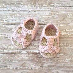 Crochet Baby Sandals Shoes Slippers Booties Gladiator Braided Braid Newborn Infant Footwear Spring Summer Clothing Accessory Handmade Gift