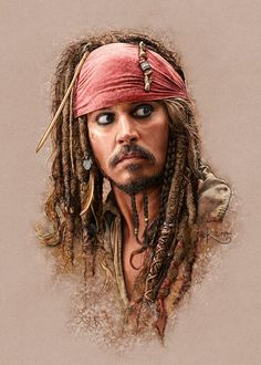 Editorial illustration featuring Johnny Depp in Pirates of the Caribbean. Jake Sparrow, Captian Jack Sparrow, Sparrow Art, Jack Sparrow Drawing, Jack Sparrow Tattoos, Jack Sparrow Wallpaper, Johnny Depp Wallpaper, Johnny Depp Characters, Johnny Depp Pictures