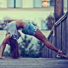 Don't you just hate it when you shorts gap at the waist while doing a sexy back bend on a bridge?   @Lynn Jackman