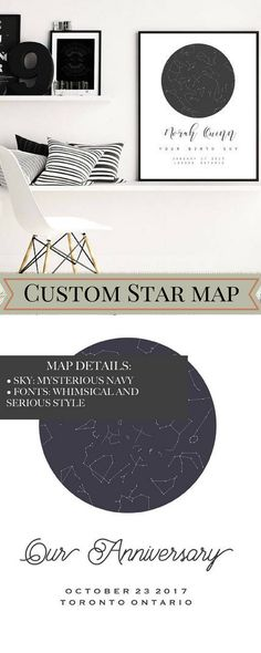 Custom Star Map, Personalized Star Map, PRINTABLE Art, Custom Night Sky Print, Custom Sky Map, Custom Star Sky, Constellation Print | This custom, handmade/hand-drawn starry sky created with your details of time and date, finely and precisely. #aff