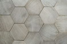 hexagon oak. parquet floor.
