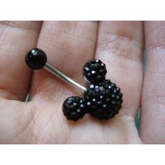 Disney Mickey Mouse Black Crystal Belly Button Ring Navel Jewelry Stud... ($14) ❤ liked on Polyvore featuring jewelry, accessories, piercings, belly ring, belly, disney jewellery, studded jewelry, belly rings jewelry, disney and belly button rings jewelry