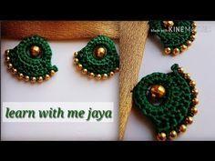 ಸೀರೆ ಕುಚ್ಚು tassels with beads designs tutorial for biginners.learn with m Saree Kuchu New Designs, Saree Tassels Designs, Wedding Saree Blouse Designs, Diy Embroidery Patterns, Hand Embroidery Videos, Embroidery On Clothes, Crochet Cord, Crochet Stitches, Handmade Rakhi