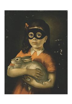 Girl With Bunny by Shuby. Beth liberating pet from animal woman at her birthday party!!!!