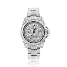 Rolex GMT Master II Custom Diamond Watch for Men 28ct