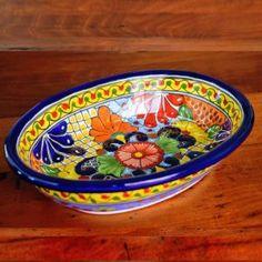 Italian Pottery, Polish Pottery, Flower Designs, Serving Bowls, Decorative Bowls, Mexico, Porcelain, Hand Painted, Ceramics