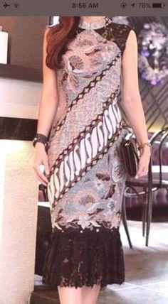 Most Popular dress brokat batik 67 Ideas Long Dress Fashion, Fashion Dresses, Model Dress Batik, Modern Batik Dress, Trendy Dresses, Nice Dresses, Dress Brokat Modern, Model Kebaya Brokat Modern, Dress Batik Kombinasi