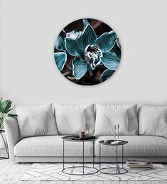 DECO PANEL | BLUE FLOWER Fox Art, Blue Flowers, Throw Pillows, Studio, Table, Furniture, Home Decor, Toss Pillows, Decoration Home
