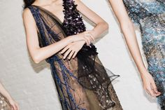 Sequin and embrodiery details in the Rodarte Spring 2015 collection