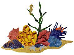 Tropical Reef Ceramic Swimming Pool Mosaic Glass Pool Tile, Glass Mosaic Tiles, Pool Tiles, Swimming Pool Mosaics, Swimming Pools, Mosaic Tile Designs, Glazed Ceramic Tile, Textiles, Illustrations