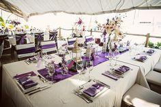 Purple dream wedding reception table decor. Wow ! punta cana wedding photographer. {amy + erik}
