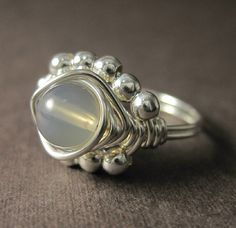 Smokey Quartz Ring Wire Wrapped Sterling Silver by holmescraft