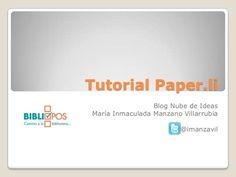 Tutorial para la creación de periódicos online con la aplicación paper.li