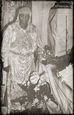 Spiritual Mother Maude Shannon with the Spiritualist Church of New Orleans. African Tribes, African Diaspora, French Quarter, Spiritual Beliefs, Spirituality, Altar, New Orleans History, Voodoo Hoodoo, Witch Art