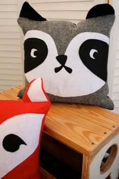 RESERVE LISTING for Lina:  woodland animal pillow case