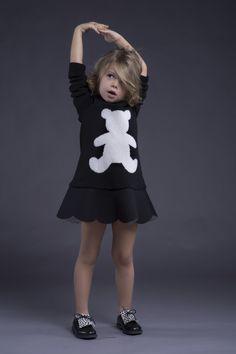 Ilona Tand wearing Il Gufo shoes and Ilinca dress - Kids fashion