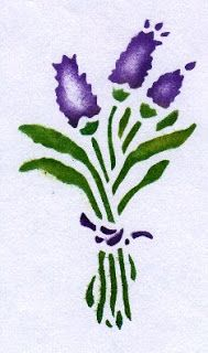 stencil for a lavender cushion