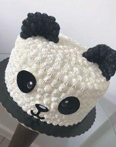 Cake Decorating Designs, Cake Decorating Techniques, Cake Designs, Decorating Ideas, Panda Birthday Cake, Pretty Birthday Cakes, Birthday Gifts, Bolo Panda, Panda Cupcakes