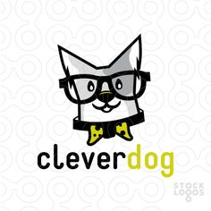 Logo Sold This little character is one smart dog! Don't let this dog's cute looks fool you! This dog is cute, smart and clever. Large over-sized eye glasses and a bow tie dog collar complete the look.