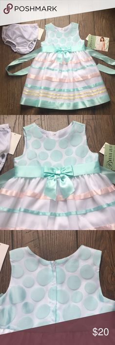 Bonnie Jean Dress NWT never worn!  Great for spring/ Easter! May be a little bigger than 24months (measurements  upon request) Bonnie Jean Dresses