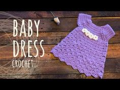 Purple Baby Dress | Lanas y Ovillos