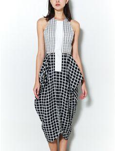 Kaelen side drape dress