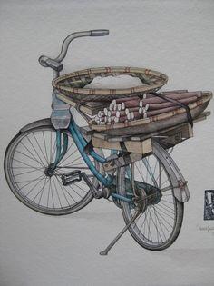Le vélo du marché de Truc Bach (Hanoi)