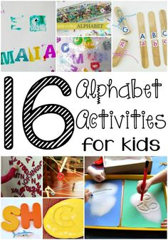 Make learning fun with these 16 alphabet activities for kids! These activities are so fun, your child might not even realize they're learning!