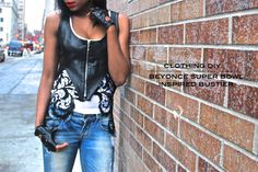 Love DIY, and this sista's got the gift!! Beyonce Super Bowl Inspired Bustier