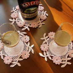 coasters - I will probably never make these, but they are beautiful!