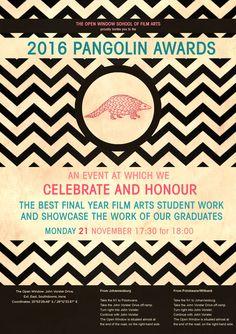 2016 Pangolin Awards Open Window, Student Work, Awards, Invitations, Save The Date Invitations, Shower Invitation, Invitation