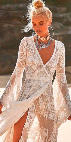 Beach Wedding Dresses Perfect For Destination Weddings ❤ See more: http://www.weddingforward.com/beach-wedding-dresses/ #weddingforward #bride #bridal #wedding