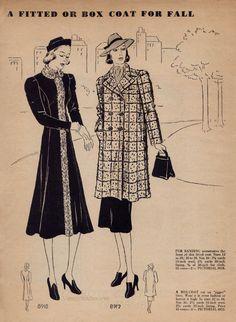 September 1937 Pictorial Fashion Forecast | VintageStitches.com