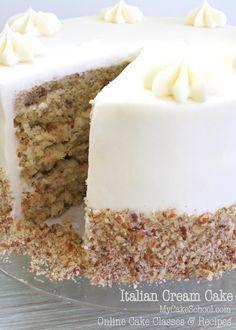DELICIOUS Scratch Italian Cream Cake Recipe by MyCakeSchool.com! Online Cake Decorating Tutorials, Videos, & Recipes!