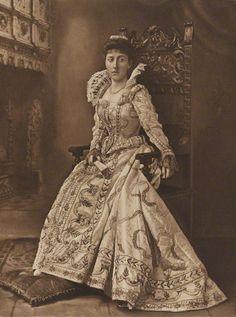 1897. The Devonshire House Jubilee Costume Ball.  Princess Helena Victoria of Schleswig-Holstein dressed as Princess Elizabeth, eldest daughter of James I.